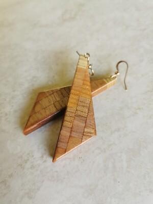 RARANGA 1 - Handmade Wooden Earrings