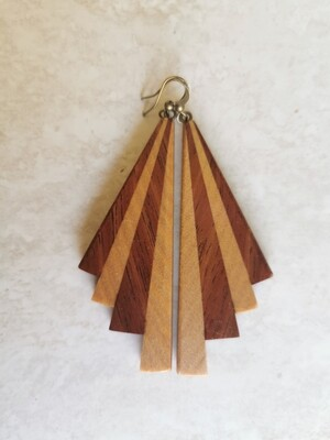 PIWAKAWAKA 12 - Handmade Wooden Earrings