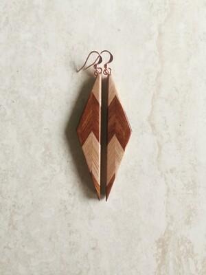 RARANGA 23 - Handmade Wooden Earrings