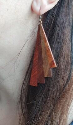 PIWAKAWAKA 16 - Handmade Wooden Earrings