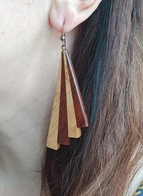 PIWAKAWAKA 13 - Handmade Wooden Earrings
