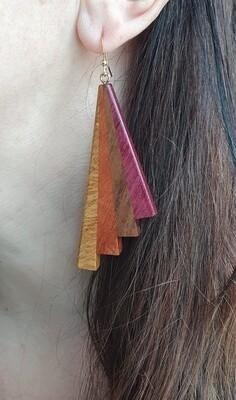 PIWAKAWAKA 21 - Handmade Wooden Earrings