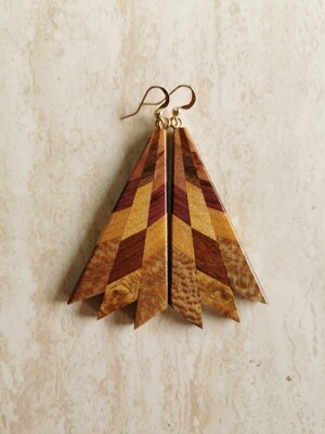 MIROMIRO 7 - Handmade Wooden Earrings