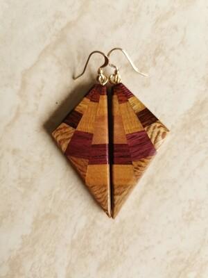 TARANAKI - Handmade Wooden Earrings