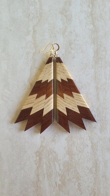 MIROMIRO 11 - Handmade Wooden Earrings