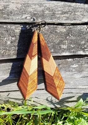 PIUMA BLACKWOOD 2 - Handmade Wooden Earrings