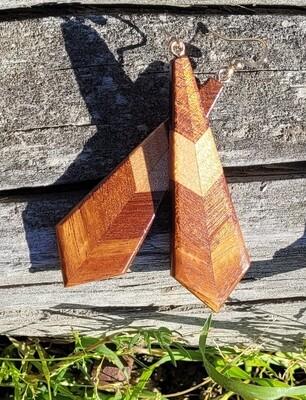 PIUMA BLACKWOOD 1 - Handmade Wooden Earrings