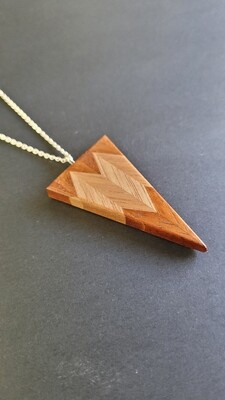 RARANGA 30 - Handmade Wooden Pendant