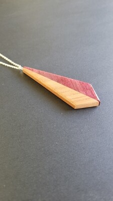DUE 21 - Handmade Wooden Pendant