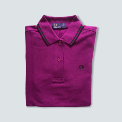 Fred Perry Twin Tipped Shirt Bright Bramble