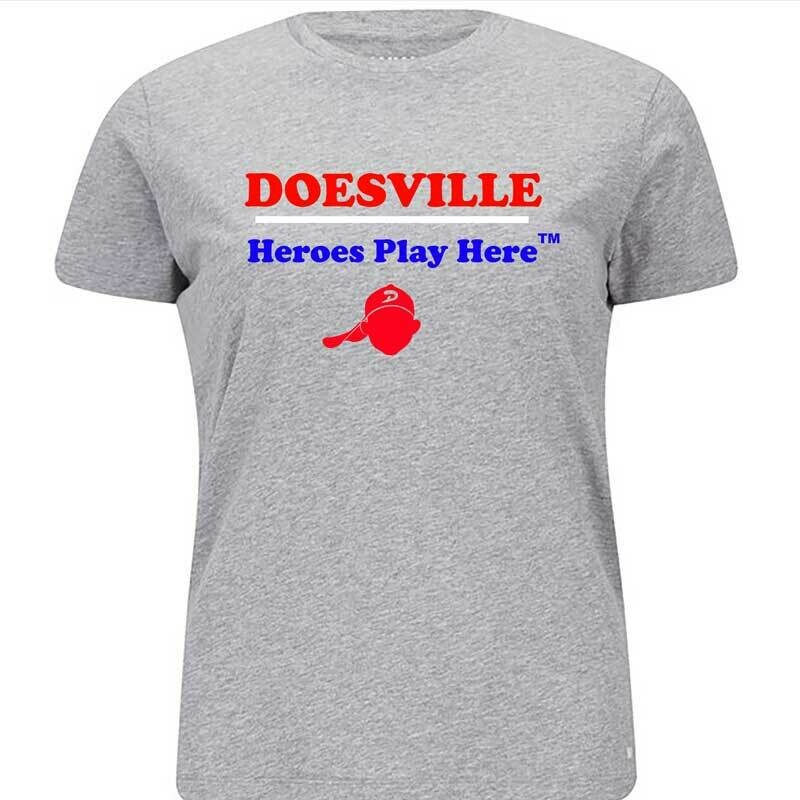 DOESVILLE HEROES PLAY HERE TEE