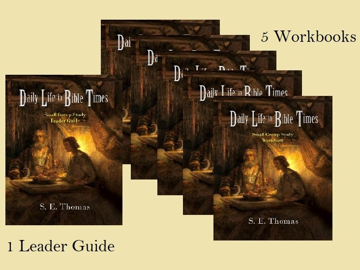 10% OFF! Daily Life in Bible Times Small Group Study Set of 5 Workbooks & 1 Leader Guide