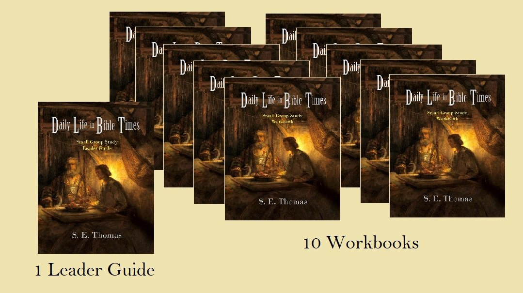 15% Off! Daily LIfe in Bible TImes Small Group Study (1 Leader Guide & 10 Workbooks)