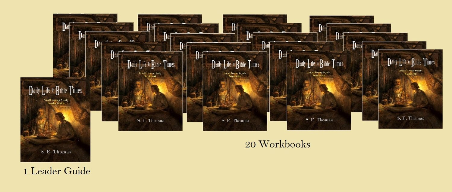 20% Off! Daily Life in Bible Times Small Group Study (1 Leader Guide & 20 Workbooks.)