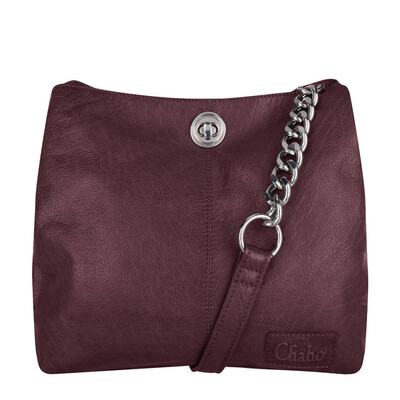 Chain Bag small aubergine