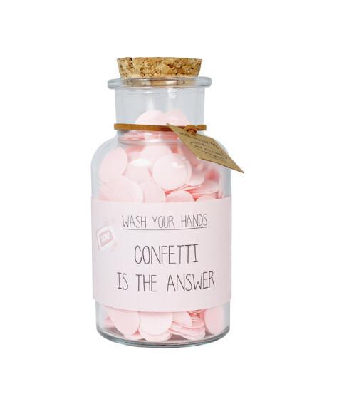 Confetti Handzeep ' Confetti is the answer'
