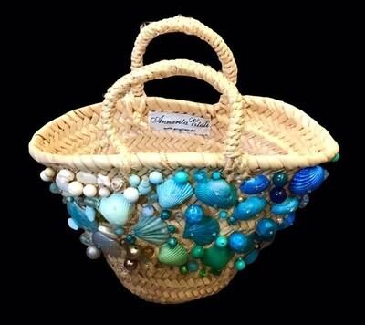 #Coffa beach bag in woven straw