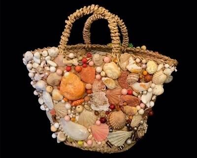 COFFA 👜 beach bag in woven straw