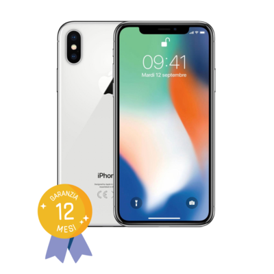 APPLE IPHONE X 256GB Silver Certified Refurbished GRADE B