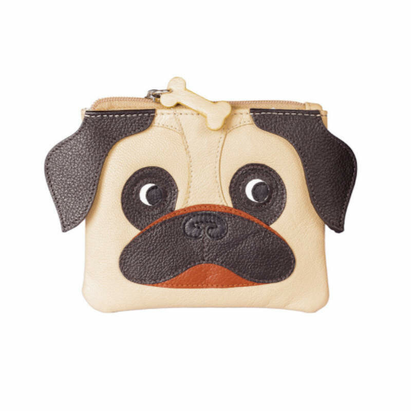 Pug Purse in Leather