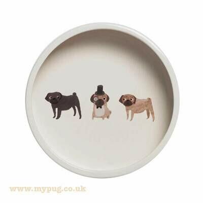 Pug Dog Bowl by Fenella Smith