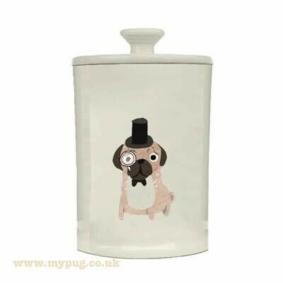 Pug Treat Jar by Fenella Smith