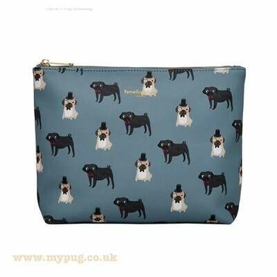 Pug Wash Bag by Fenella Smith