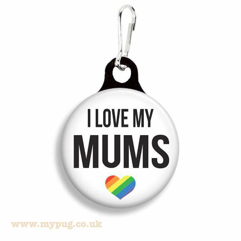 I Love my Mums - Pride Collar Charm