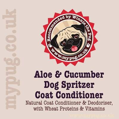 Aloe & Cucumber Dog Spritzer   Natural Deodoriser & Coat Conditioner
