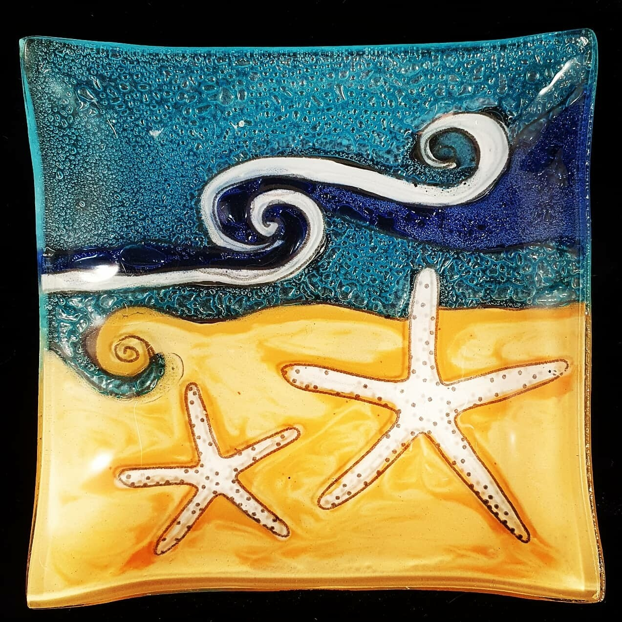 Starfish Beach Slump Plate*