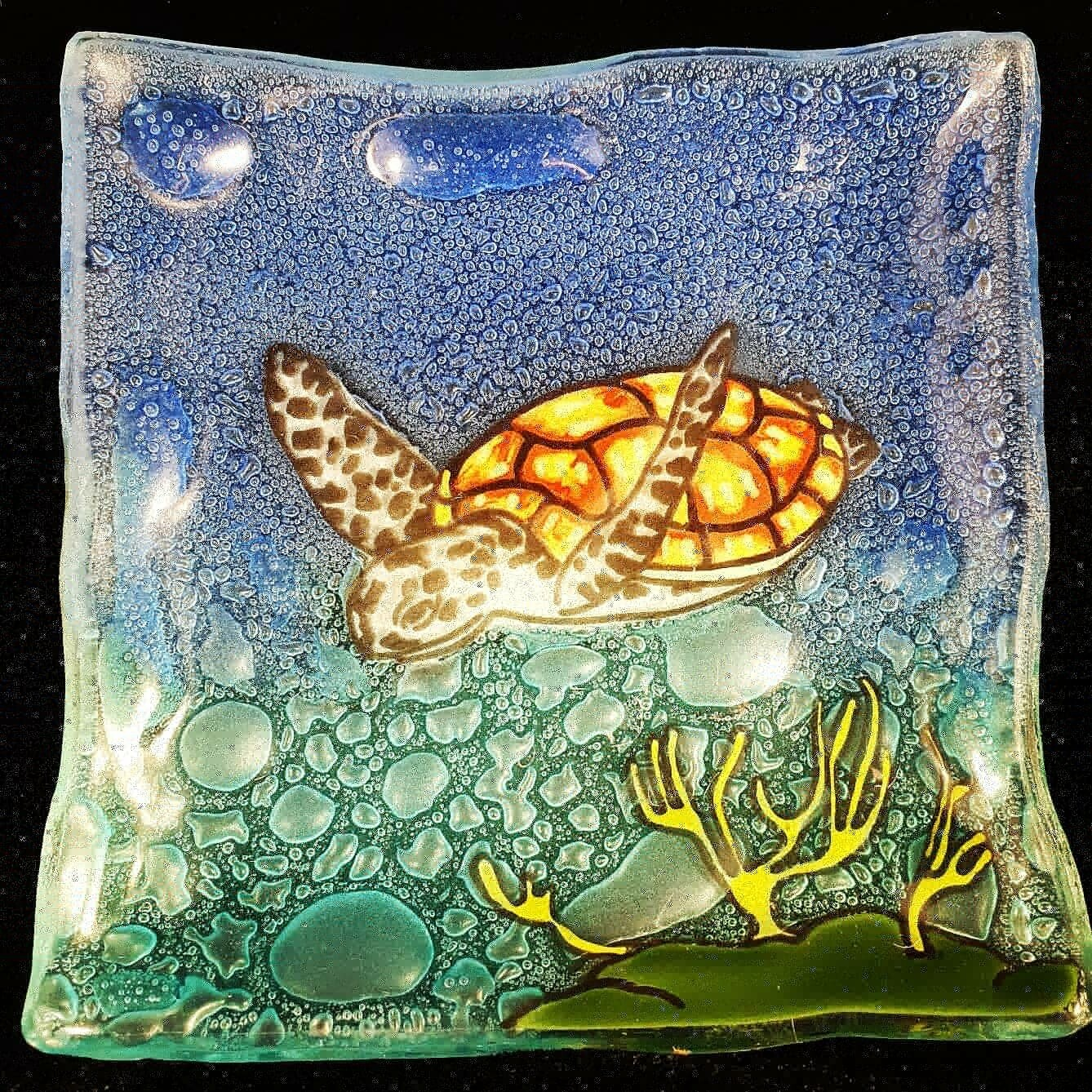 Small Turtle Slump Plate*