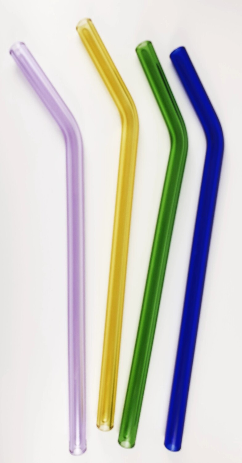 Reusable Small Bent Glass Straw* (Pack of 2)