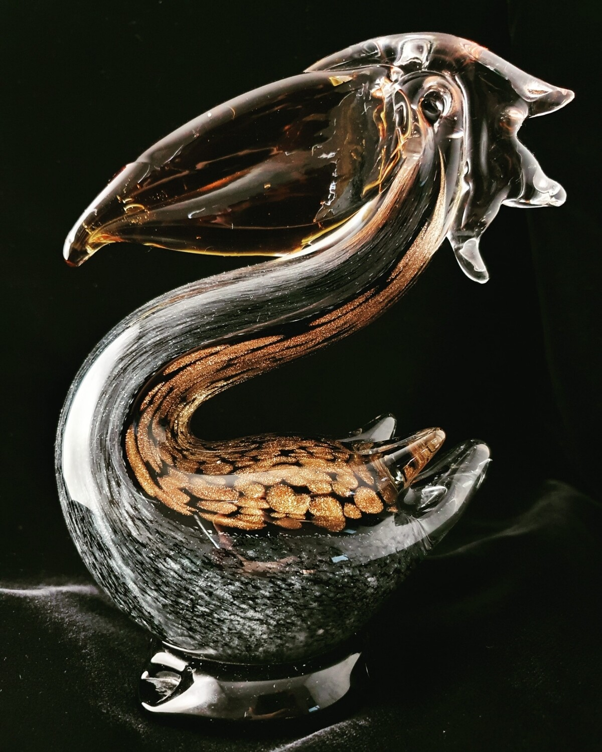 Large Black and Bronze Pelican*