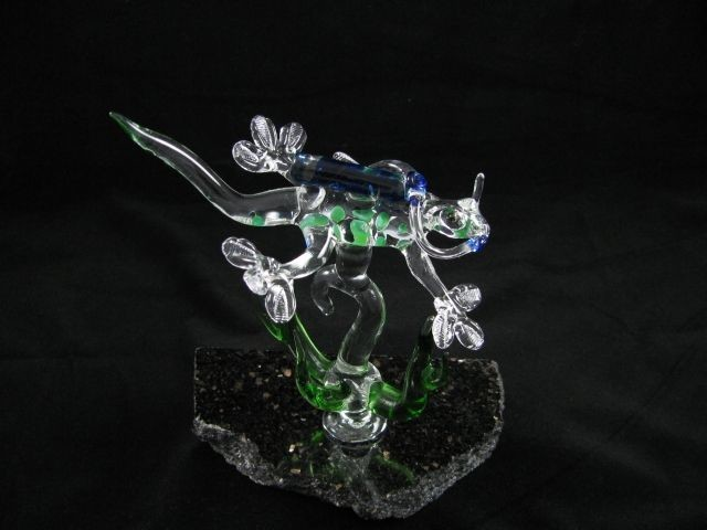Gecko Scuba Diver with Seaweed on (Your Choice) Base