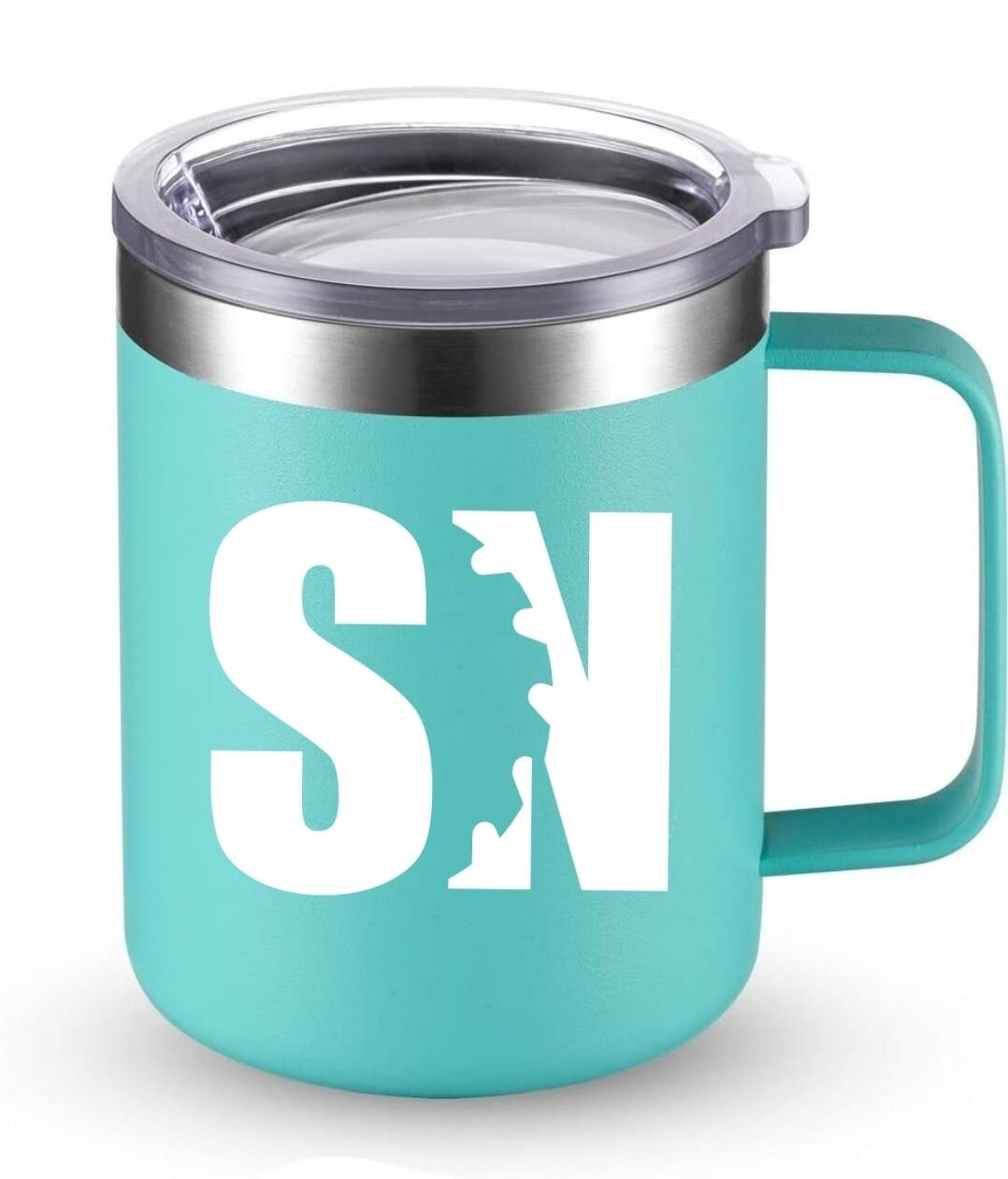 Teal Sawdust Nation Insulated Mug with Lid