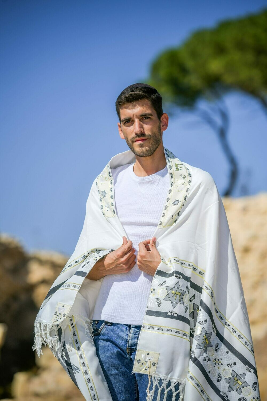 MENORAH -Small Tallit (Prayer Shawl)