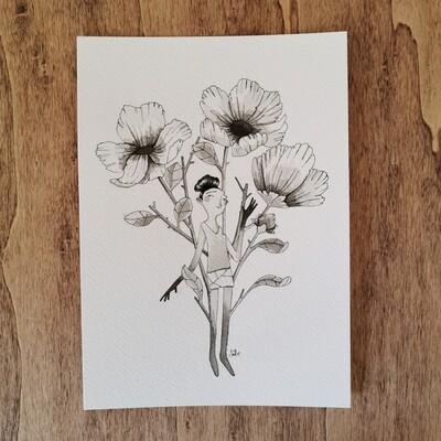 A flower inside