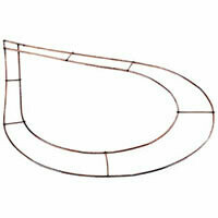 Chaplet teardrop wire frame pack of 10, 15