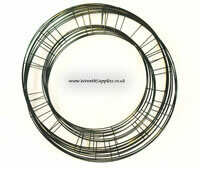 Flat wire wreath base green pack of 10, 8