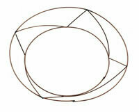 """Raised edge dish wire wreath rings 10"""" pack of 10"""