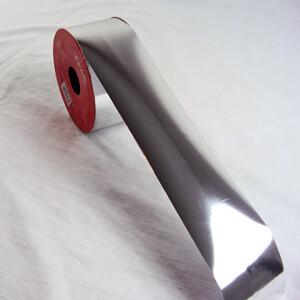 "Metallic silver ribbon 2"" 25yds"