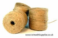 Natural Brown Jute Twine A large 500g ball of strong 4ply natural jute string ideal for many crafts as well as around the home and garden