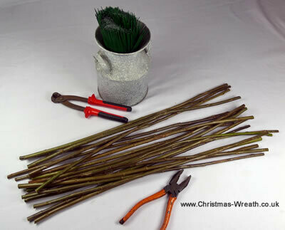 Locally grown willow sticks