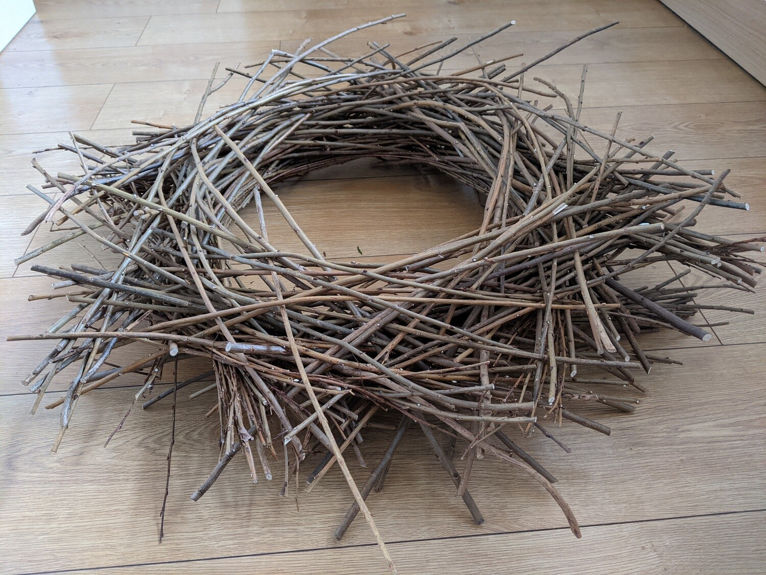 "Large handmade, locally sourced twig nest approx 30"" diameter. For photography, decoration or centrepiece."