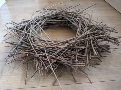 """Large handmade, locally sourced twig nest approx 30"""" diameter. For photography, decoration or centrepiece."""