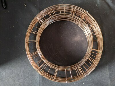 Pack of 50 Copper Finish Wire Wreath Rings 10