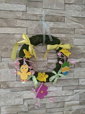 Childrens easter wreath craft kit