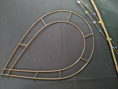 "Chaplet teardrop wire wreath frame pack of 10, 15""-18"""
