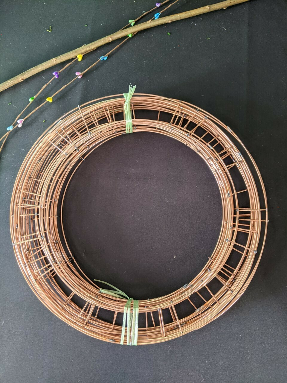 """Pack of 50 Copper Finish Wire frame Wreath Rings 10""""-12"""" Pack of 50"""