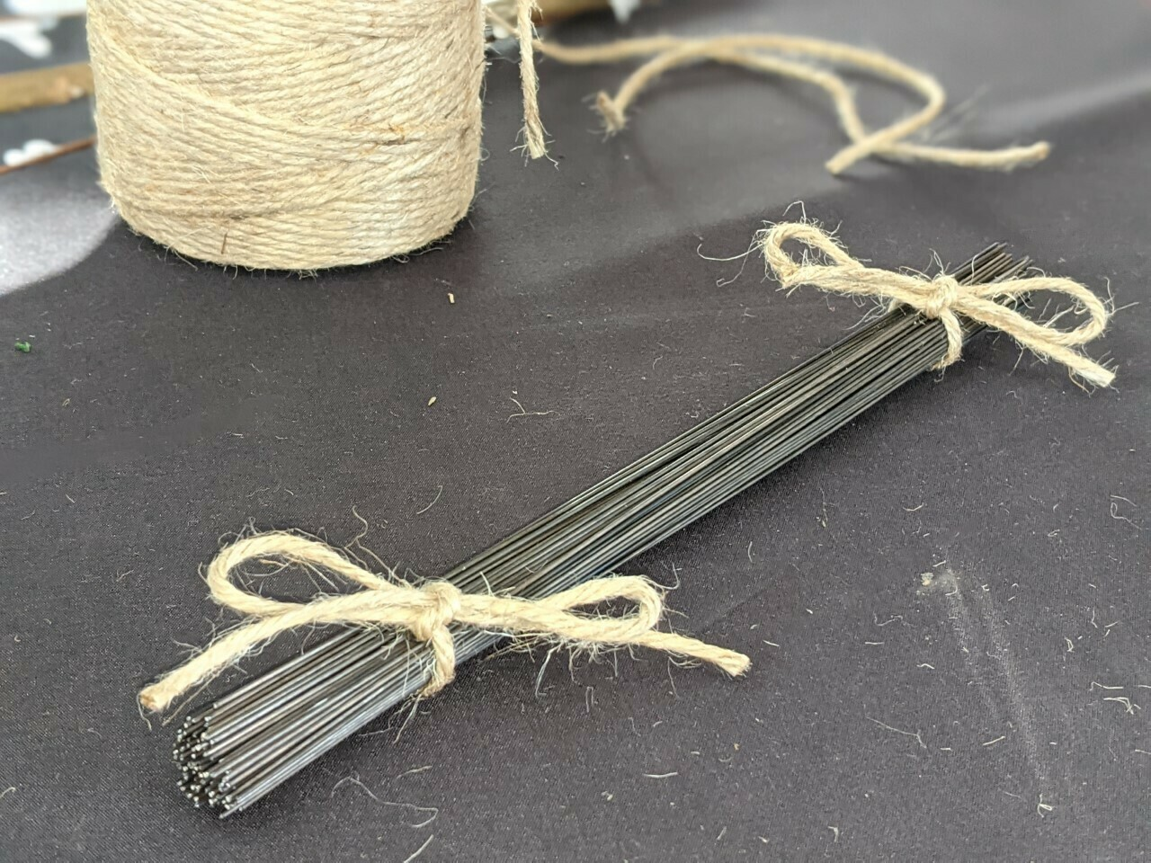 Florists Stubbing wire plain and green from 7 inch 20 gauge 150g